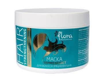 Маска термо-защита  для волос укрепляющая  Flora Professional 500мл